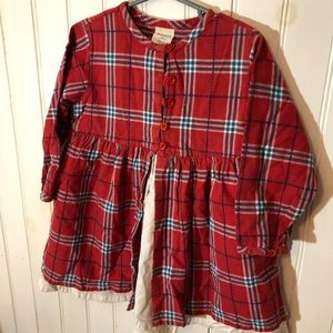 Holiday dress red plaid oldnavy 24-30month xxl